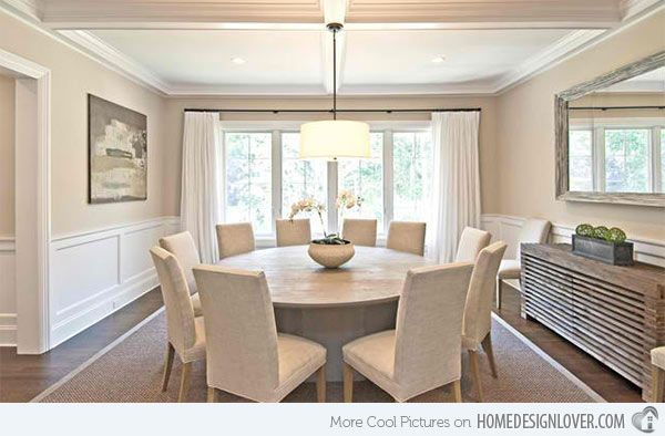 15 Ideas For Beige Dining Rooms Round Dining Room Table Round
