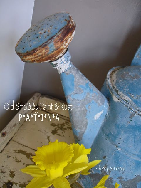 ChiPPy! - SHaBBy!: ChiPPy!-SHaBBy! BLUE ViNtaGe Watering Can!*!*!