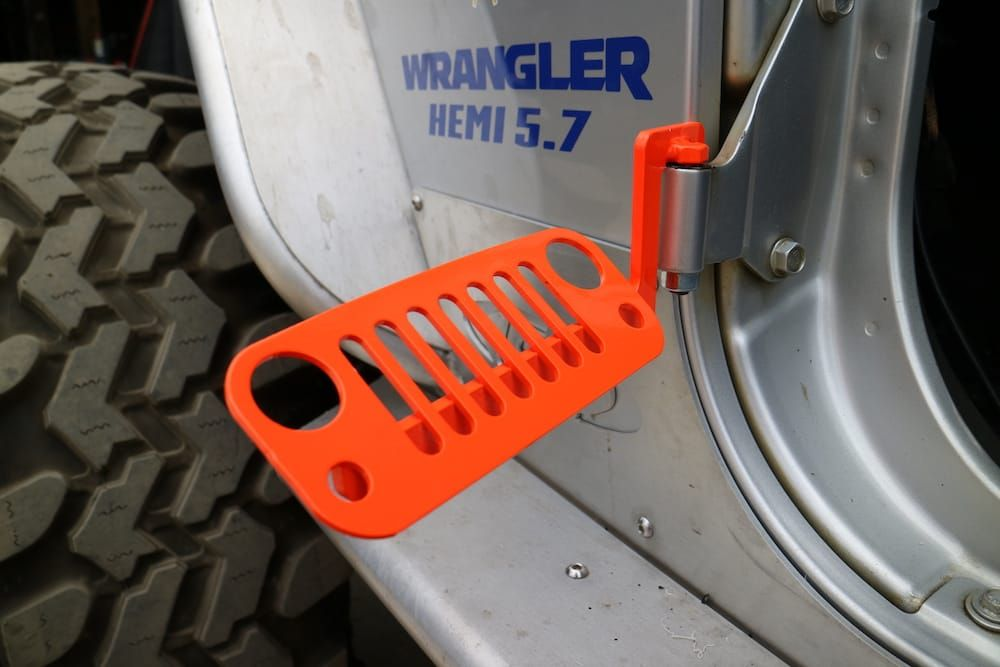 Jk Wrangler Jeep Foot Pegs Orange 2007 2018 100 Made In The Usa