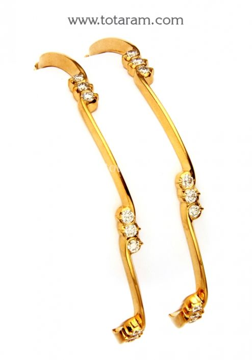 Diamond Bangles in 22K Gold Totaram Jewelers Buy Indian Gold