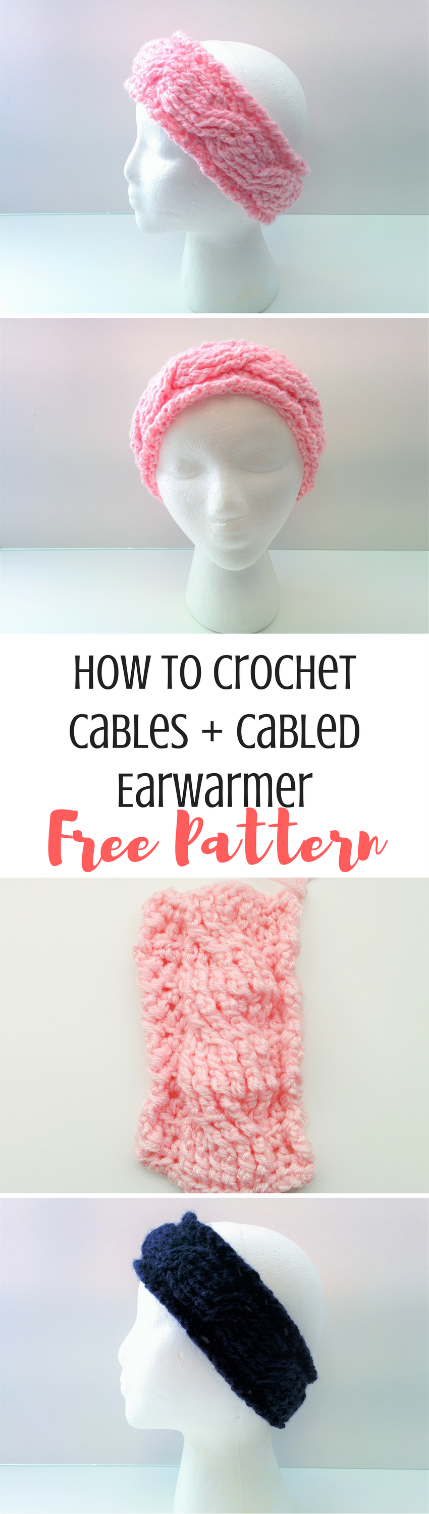 Crochet 101: How to Crochet Cables + Earwarmer Pattern | Accesorios ...