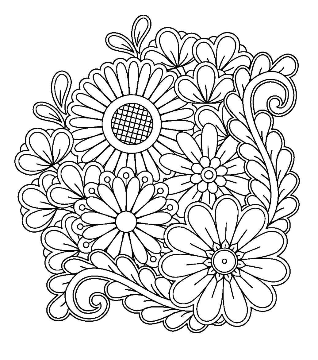 Flower Design for Zentangle Inspiration | Coloring pages ...