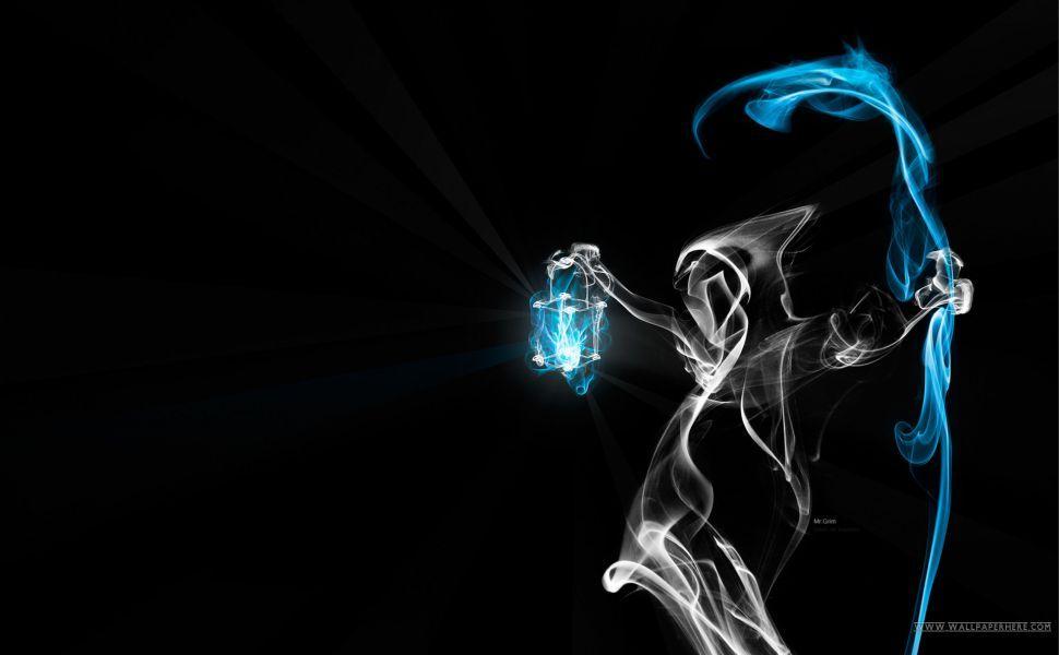 Ghost Smoke Hd Wallpaper Abstract Art Wallpaper Neon Backgrounds Smoke Wallpaper