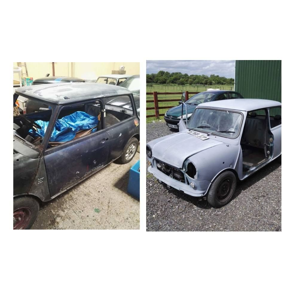 eBay: 2 Classic Minis unfinished projects barn find restoration ...