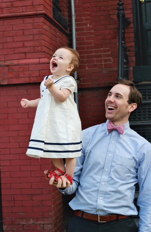 lovely daddy + daughter photo