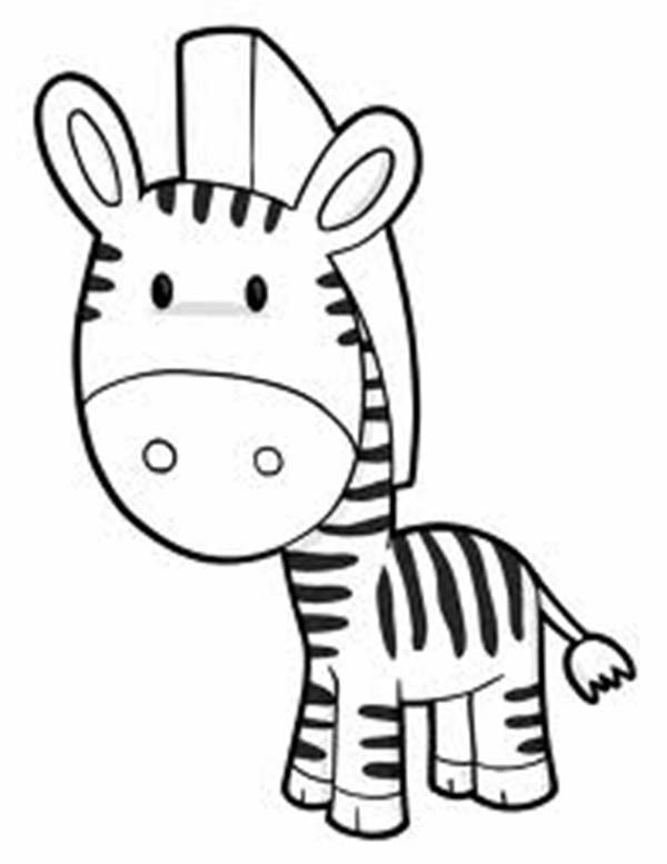 Cute Zebra Coloring Page Zebras Ae Pinterest Coloring Pages