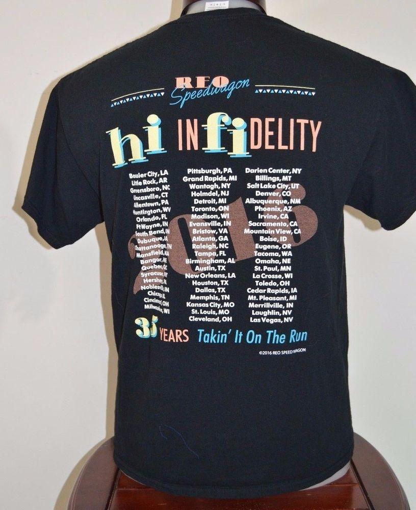 REO SpeedWagon Hi Infidelity Tour 2016 Graphic T Shirt size