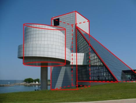 geometric buildings structures - obviously this building ... Rectangular Prism Buildings