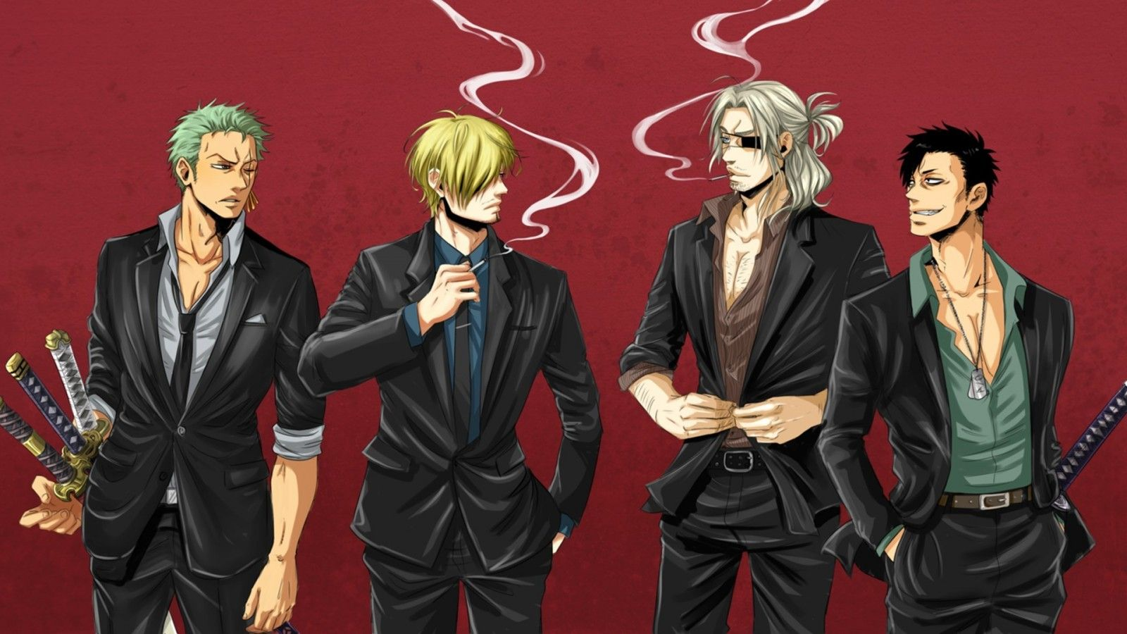 download wallpaper one piece, gangsta, sanji, roronoa zoro