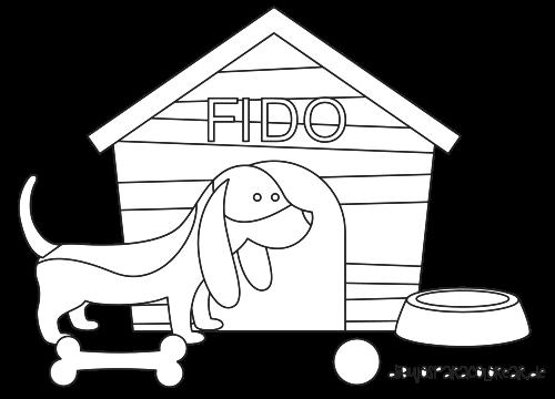 Dibujo para colorear de un perro de httpswww