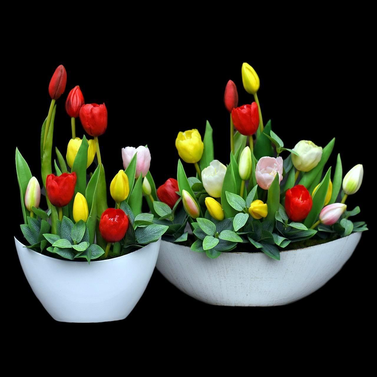 Sztuczne Tulipany W Doniczkach Succulents Plants Flowers