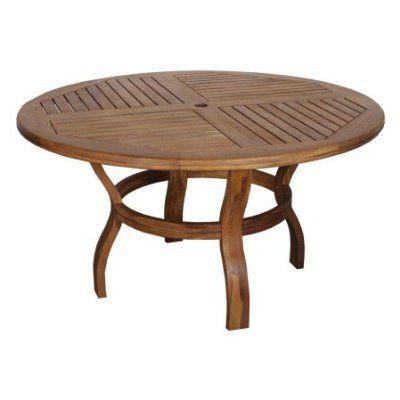 Runder Gartentisch Aus Akazie Gartentisch Holztisch Und Tisch
