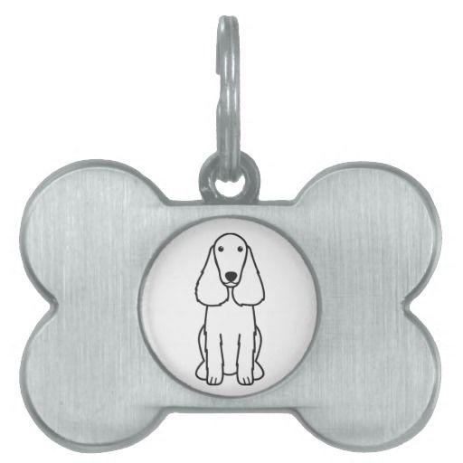 Field Spaniel Dog Cartoon Pet Tag