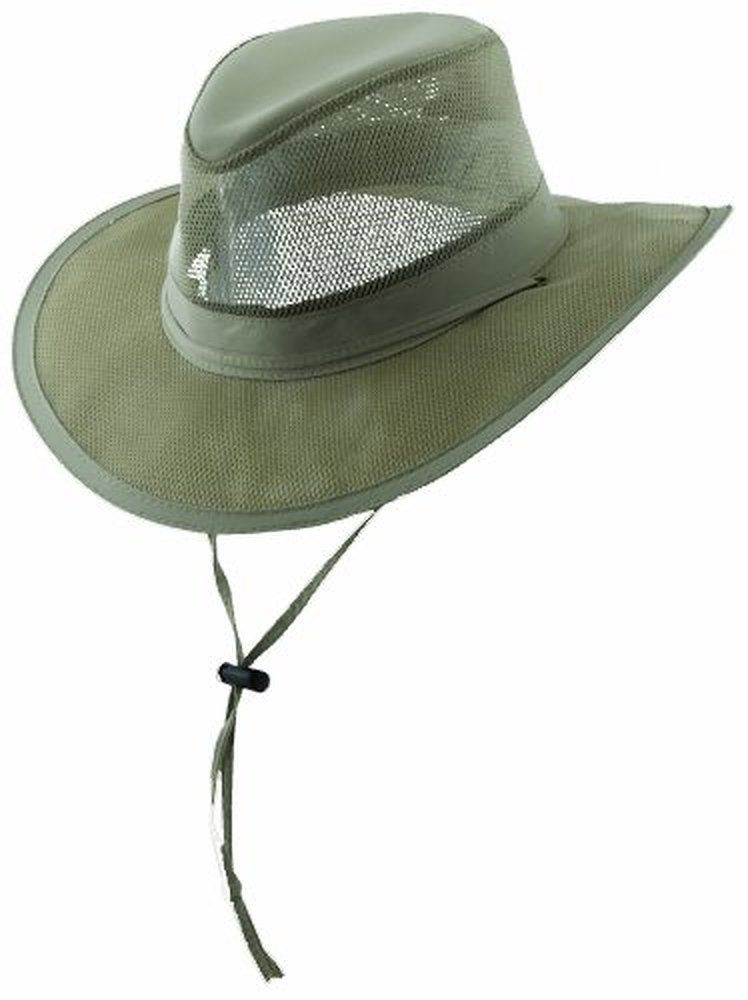 94d9067953644 Dorfman Pacific Men s 1 Piece Suplex Pinch Front Safari Hat With Genuine  Leather Trim