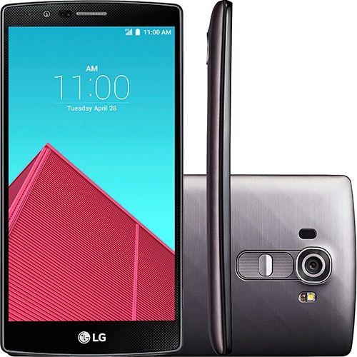 Smartphone LG G4 Beat Desbloqueado Claro Android 5.0 Tela 5.5'' 32GB 4G Wi-Fi Câmera 16MP - Titânio
