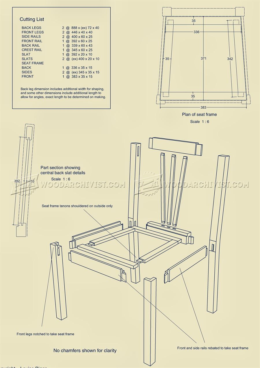2309 Oak Dining Chair Plans Furniture Plans Kỹ Thuật