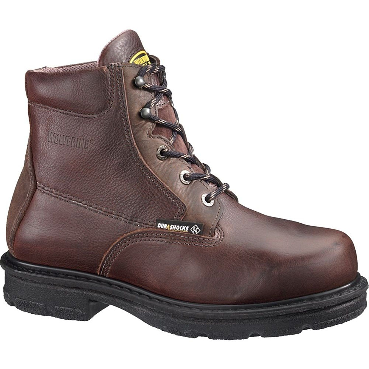 Men's Wolverine 6 inch Fusion Steel Toe Met Guard EH Work Boots ...