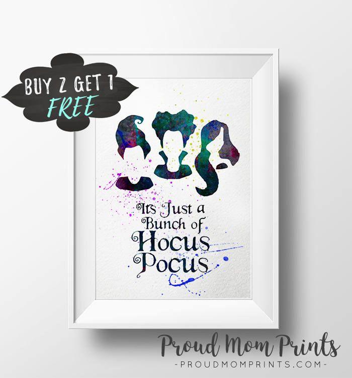 Hocus pocus art print, sanderson sisters, bunch hocus pocus