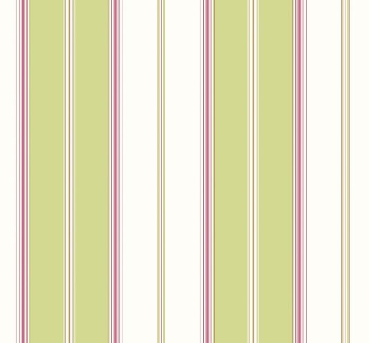 Nantucket Stripe Wallpaper A Wide Lime And White Striped With Narrow Stripes In Fuschia Pink Green