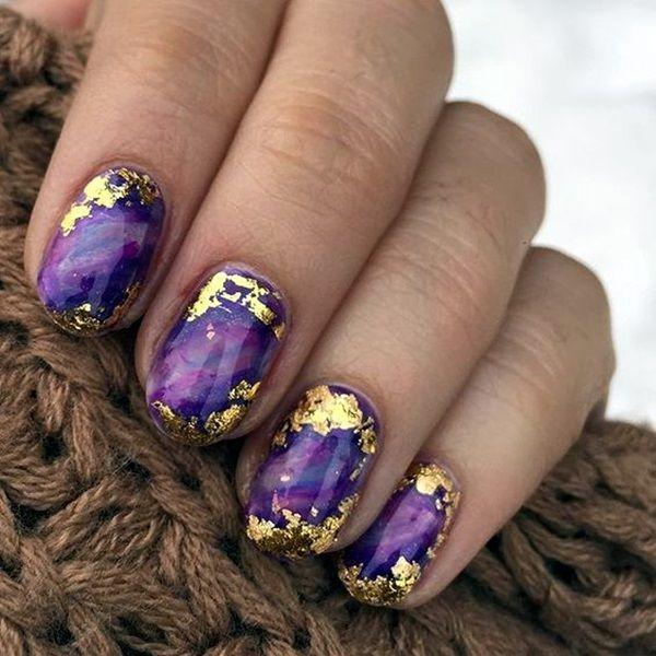 Amethyst Gemstone Nail Art Nails Nail Art Nail Nail Polish