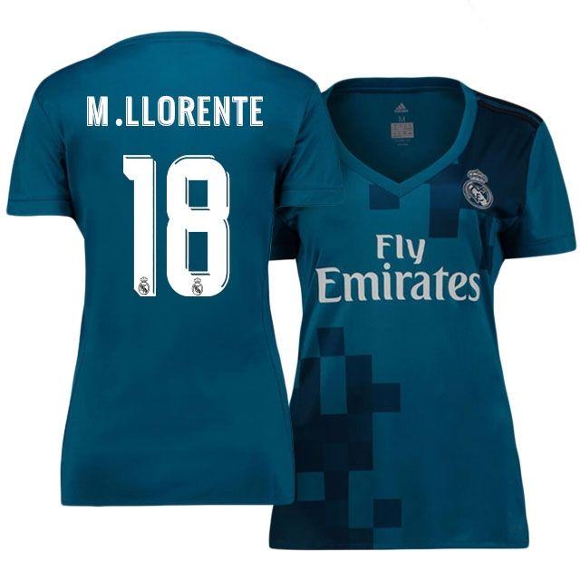 ac516bafa Real Madrid Jersey 17-18 marcos llorente s Third Women Shirt