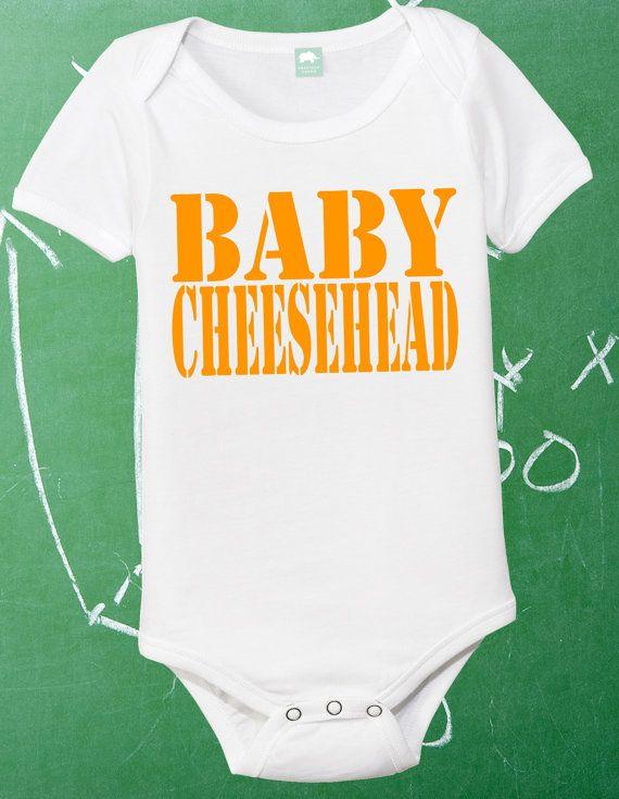 Baby Cheesehead Infant Shirt Lil Packer Fan Newborn Green Bay