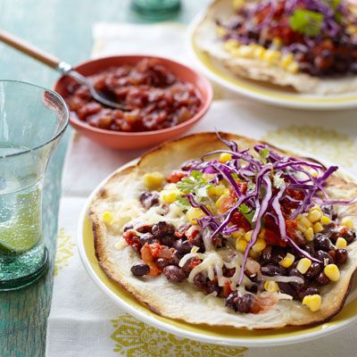 Skinny Veggie Pizza - Flour Tortilla Recipes - Good Housekeeping (BBQ Chicken, Tex-Mex, Skinny Veggie, Ham & Cheese, Cheeseburger)