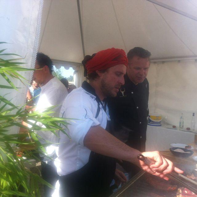 Chakall grillt nur für uns Argentinisch: Sommerfest bei City and more - lecker