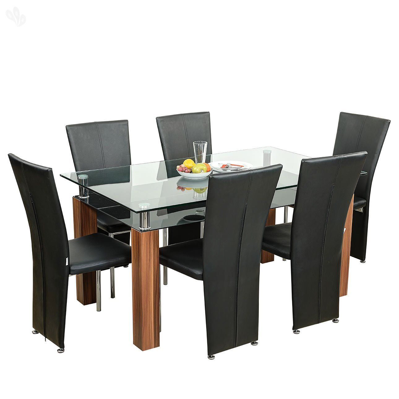 Royal Oak Iris Dining Table Set (Honey Brown) - Best Home and ...