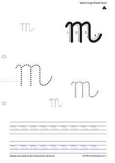 Duże Małe Wiersz Kaligrafia Nauka Pisania Dla Dzieci