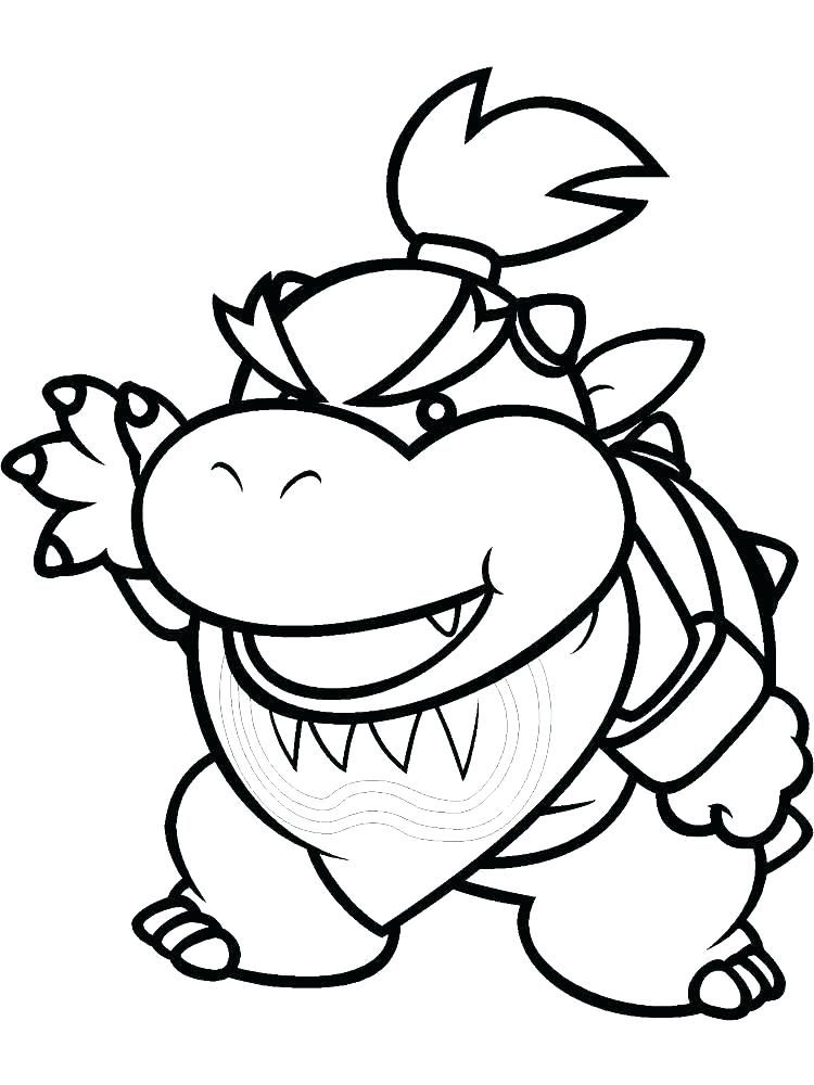 Bowser Coloring Pages Super Mario Coloring Pages Mario Coloring