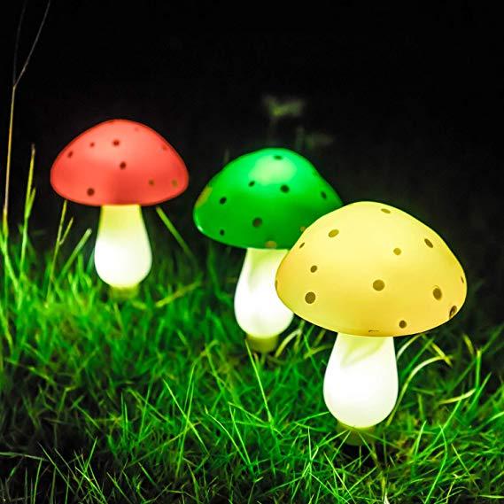 Amazon Com Sungath Solar Mushroom Lights Outdoor Solar Powered Lights For Garden Patio Backyard Mushroom Lights Solar Powered Lights Outdoor Solar Lights