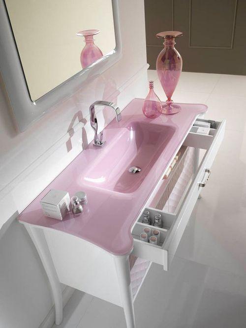 very femenine wash basin and vanity