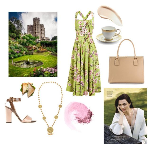 """Tea and crumpets in Britain"" by easewithabigail ❤ liked on Polyvore featuring Dolce&Gabbana, Prouna, NARS Cosmetics and Burberry"