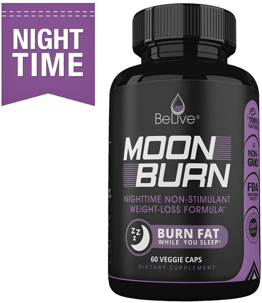 Moonburn Fat Burner Weight Loss Pills For Women And Men Sleep Aid
