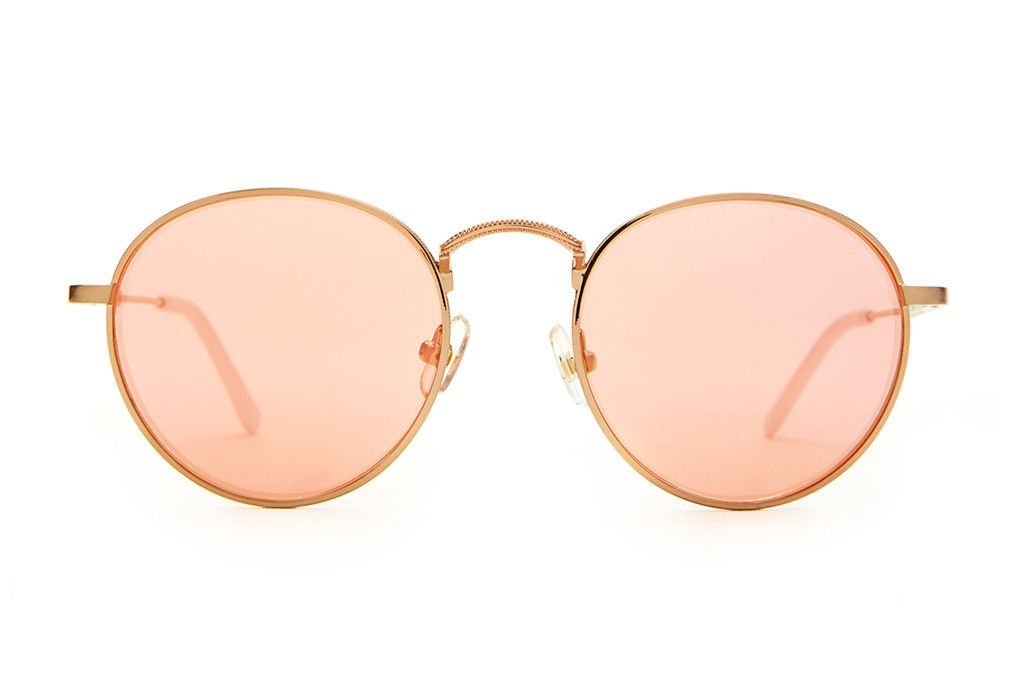 The Tuff Patrol - Brushed Rose Gold Wire & Matte White Tips - w/ Rose Gold Mirror Lenses - Sunglasses