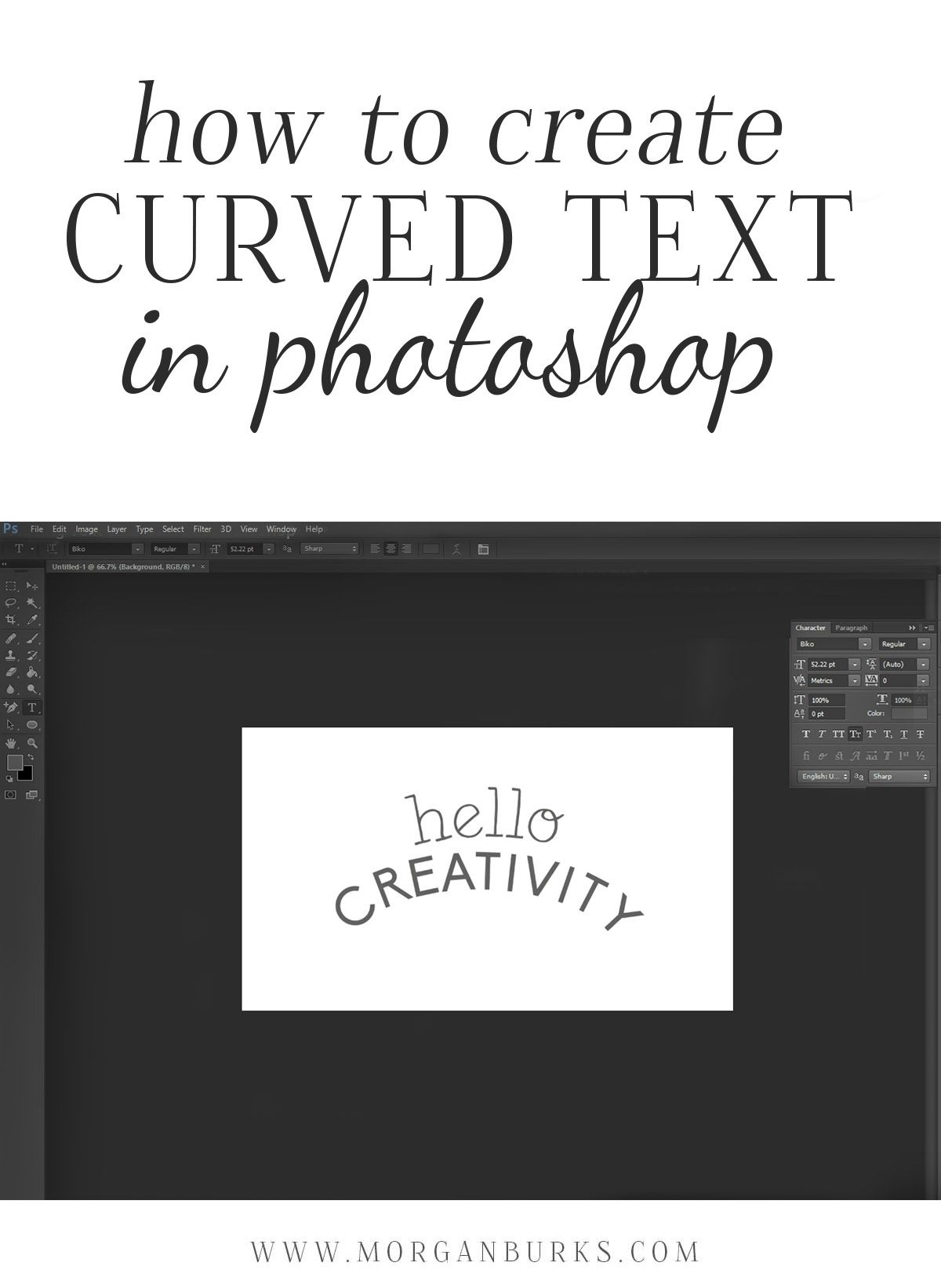 How to Create Curved Text in Burks