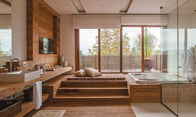 15 wunderbare Spa-Badezimmer, die echten Genuss bieten - Dekorationen gram #hausinterieurs