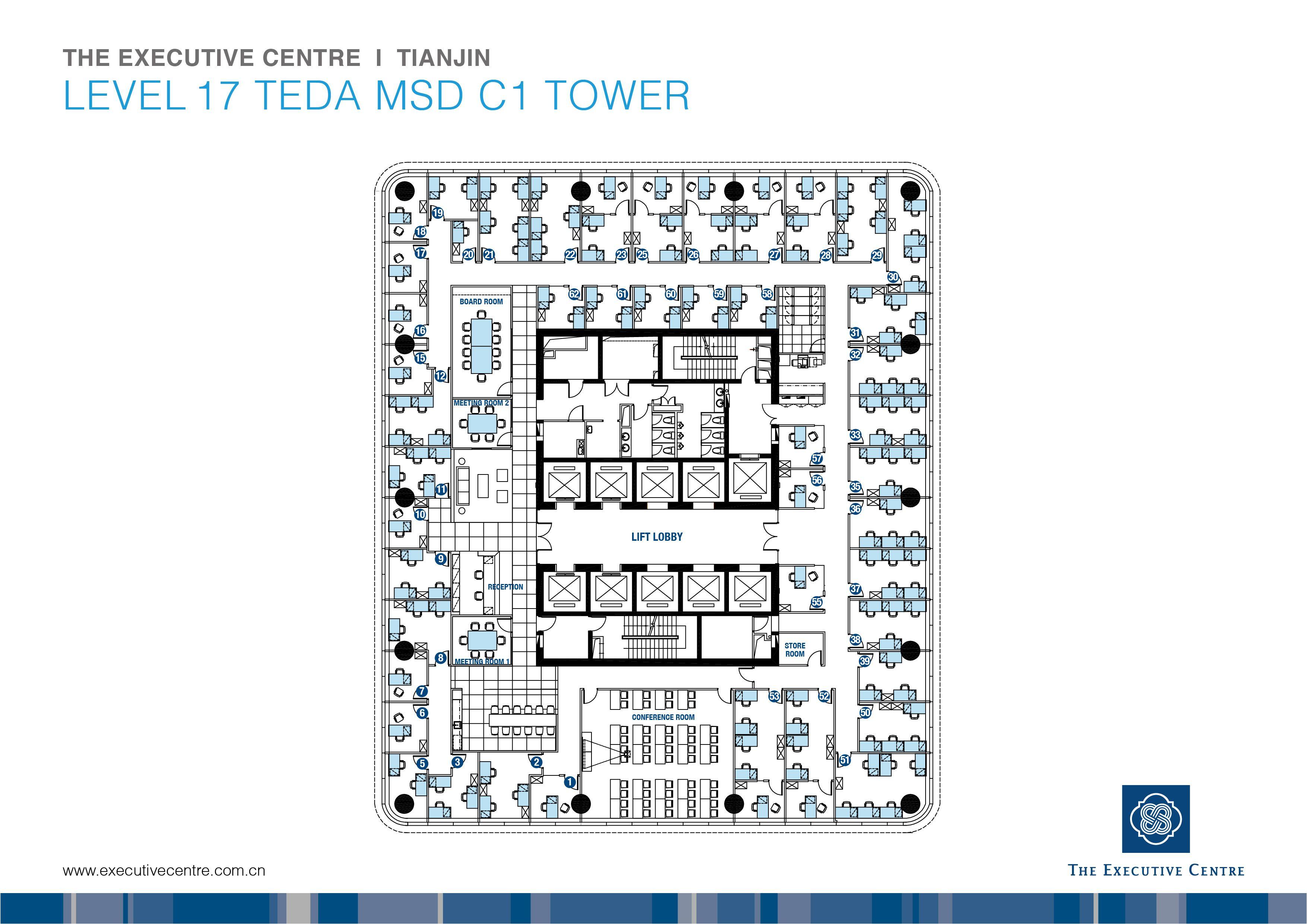 Fp Tianjin Teda Msd C1 Tower Jpg 3509 2481 Bedroom Floor Plans Floor Plans Office Floor Plan