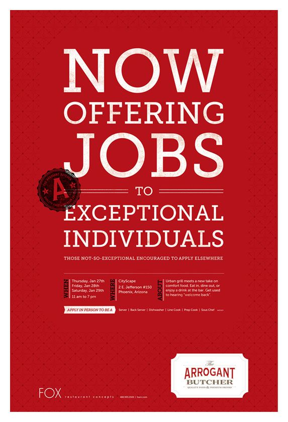 creative job recruitment poster - Google Search | Recruitment ...