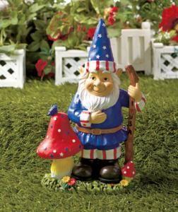 Captivating #730407012 Mr. Patriotic Garden Gnome Statue By Sensationaltreasures