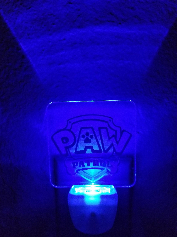 Paw Patrol Custom Acrylic Blue Led Plug In Night Light Soft