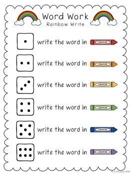 Word Work It Five Free Word Work Activities Word Work Activities Word Work Kindergarten Word Work