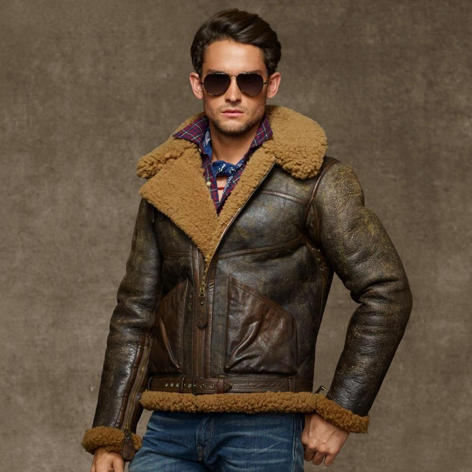 Ralph Lauren Dover Shearling Bomber Jacket For 1500 Wantering Leather Jacket Men Polo Bomber Jacket Leather Jacket [ 960 x 960 Pixel ]