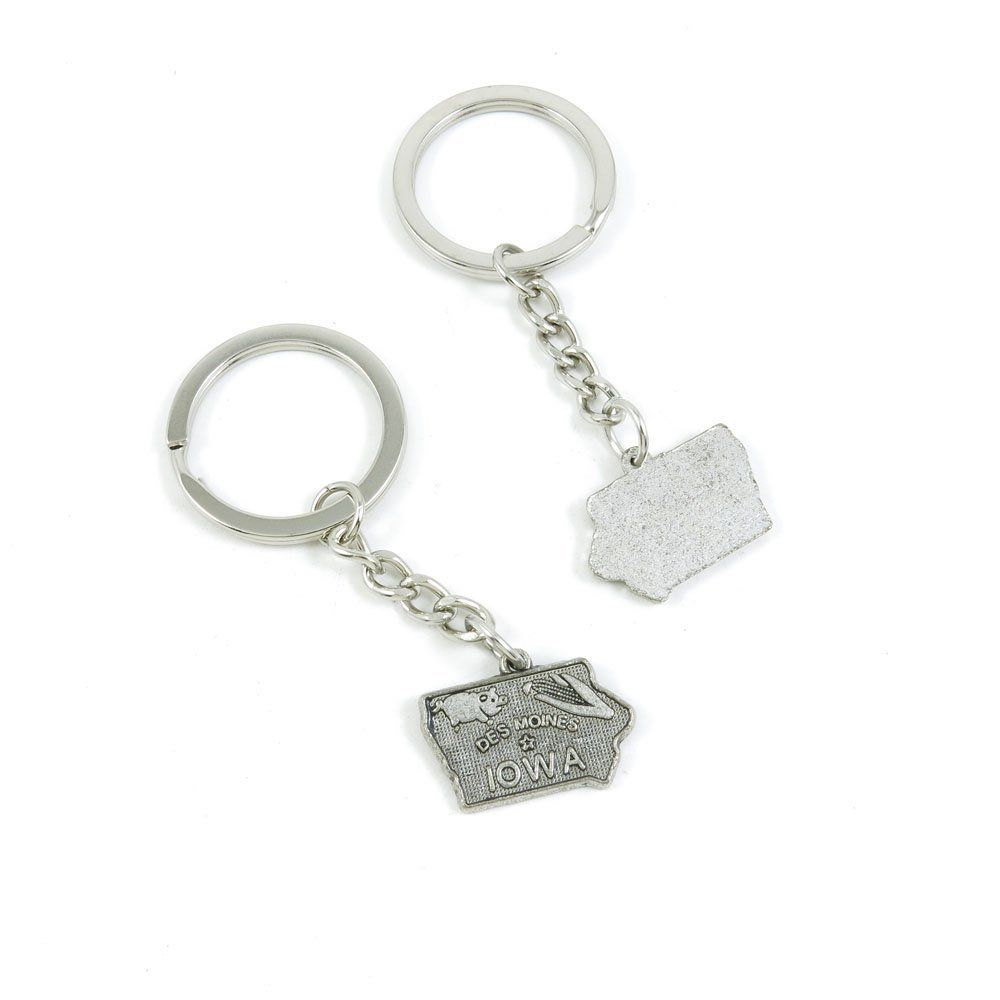 1 Pieces Keychain Door Car Key Chain Tags Keyring Ring Chain Keychain  Supplies Antique Silver Tone Wholesale Bulk Lots R3RS8 Iowa Map Tags --  Don t get left ... 7859d67f4