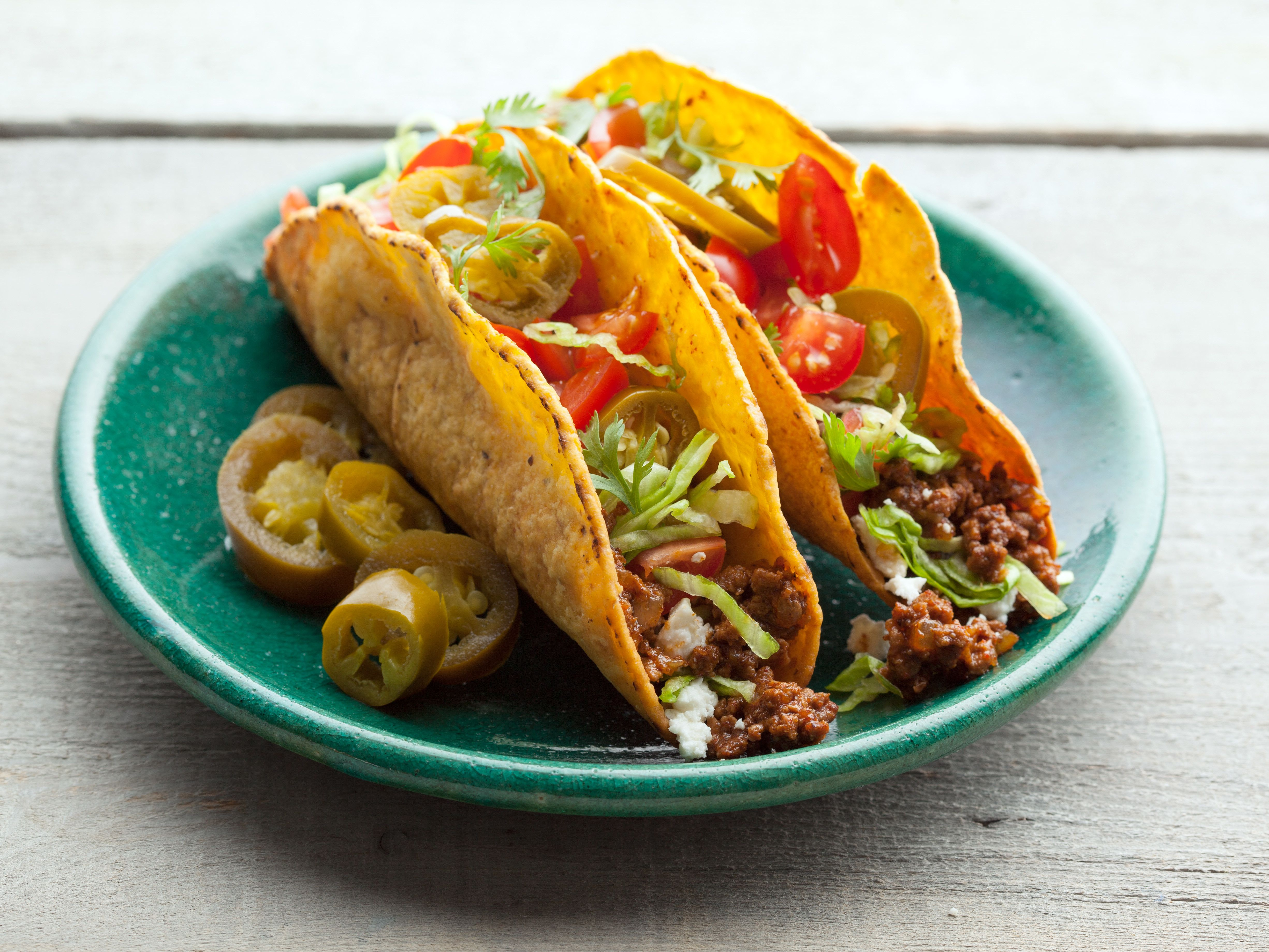 All American Beef Taco Recipe Tacos Beef Food Network Recipes Recipes