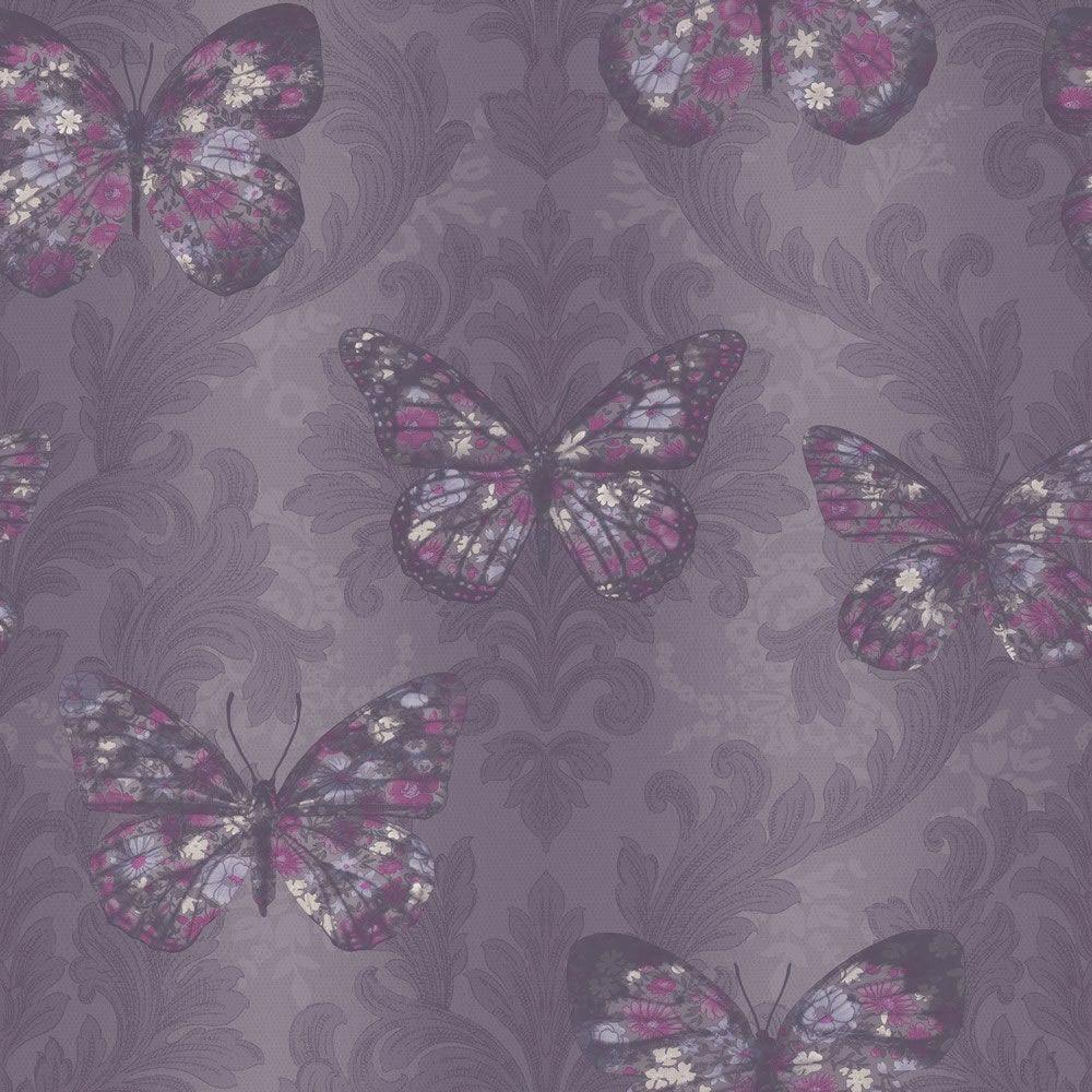 Home diy wallpaper illustration arthouse imagine fern plum motif vinyl - Midsummer Plum Wallpaper