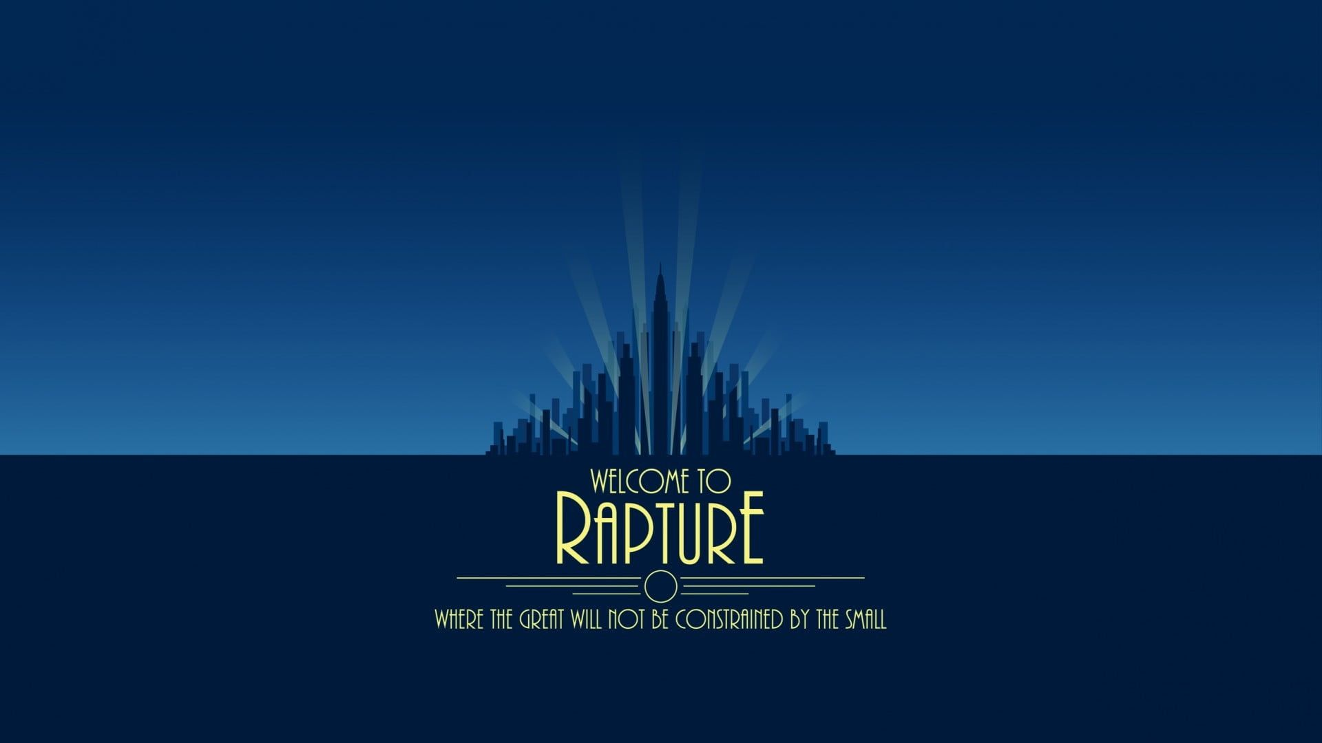 Welcome To Rapture Text Overlay Bioshock 1080p Wallpaper