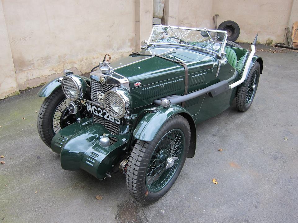 1933 mg midget j2j4 sports chassis no j 0483 engine no