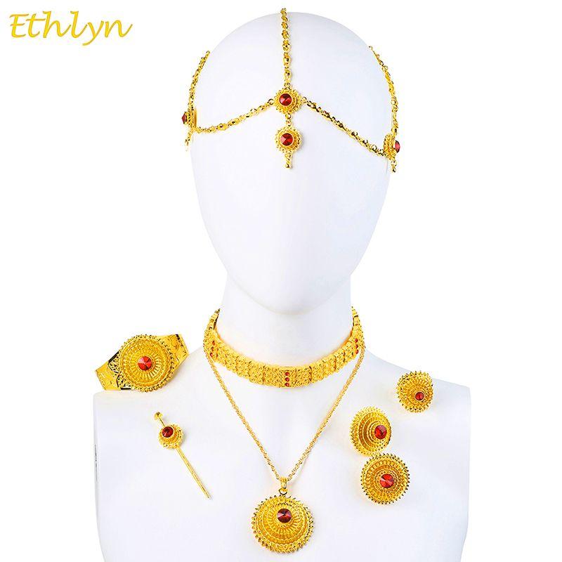 Ethlyn Luxury Ethiopian Eritrean Traditional Jewelry Choker Sets